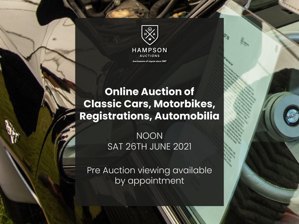 Online Auction of Classic Cars, Motorbikes, Registrations & Automobilia